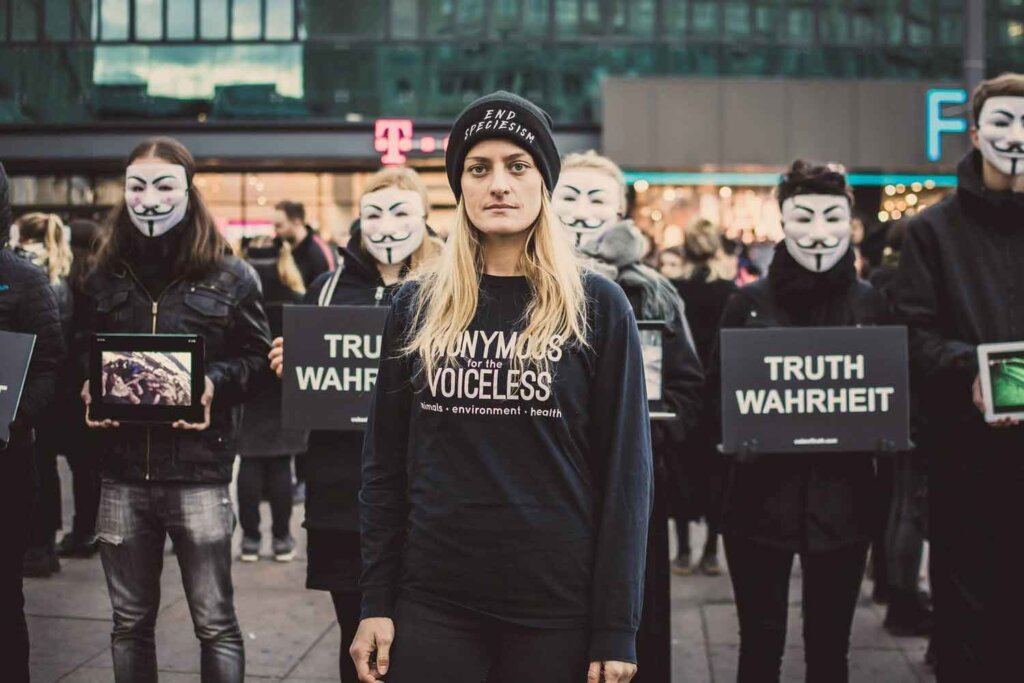 Anonymous for the Voiceless'tan 168 Saatlik Cube of Truth Eylemi