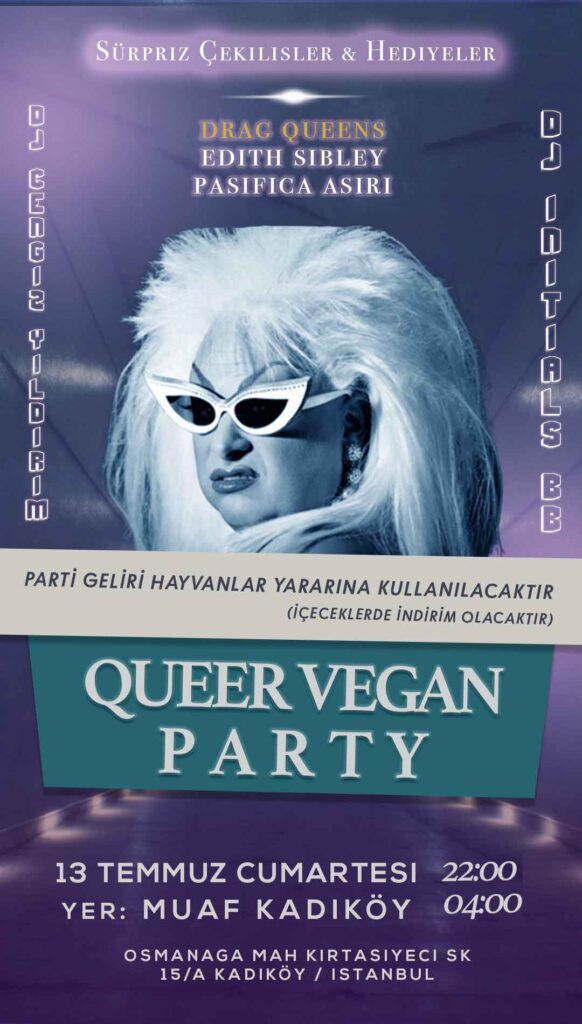 queer vegan party
